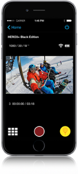 Use your phone as an ultra-convenient remote control for your GoPro. Quickly adjust camera settings, start/stop recording, add HiLight Tags, switch modes and more. It's great for gear-mounted shots where the camera is out of reach. Plus, live preview lets you see what your GoPro sees so you can frame your shots with confidence.