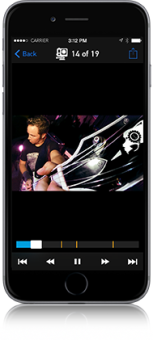 Now featuring HiLight Tag, the GoPro App enables you to mark key moments while recording to easily locate your best clips for convenient playback.1 View tagged content in your GoPro Camera Roll to quickly find your video highlights.