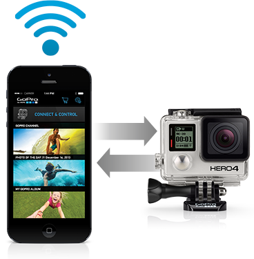 Conveniently update your camera on the go using your phone or tablet and the GoPro App—no computer and no cables needed.3 It's the quickest, easiest way to keep your GoPro up to date with the latest software for new features and optimal performance.