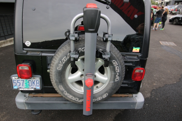 We like the SpareRide's quick and easy installation, and built in rubber tire paint damage protection