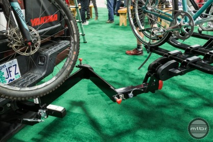 With Yakima's new BackSwing mechanism, it's never been easier. Simply pop up the security pin and your rack swings out of the way. This $299 add-on device works with any Yakima (or other manufacture) rack and holds up to 250 pounds, meaning you can haul four bikes. Availability is set for spring 2018.